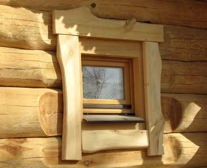 окна для бани из дерева