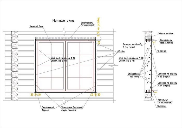 Как установить пластиковое окно деревянном доме своими руками