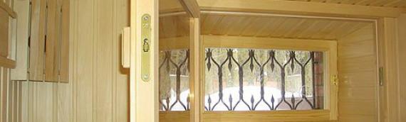 Деревянные окна в баню