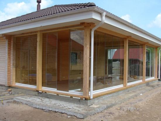 окна для террасы деревянные