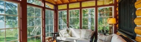 Деревянные окна для веранды, остекление террасы